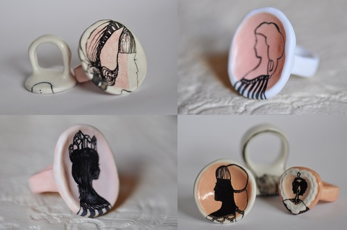 Goldenink Collaboration: Porcelain Rings