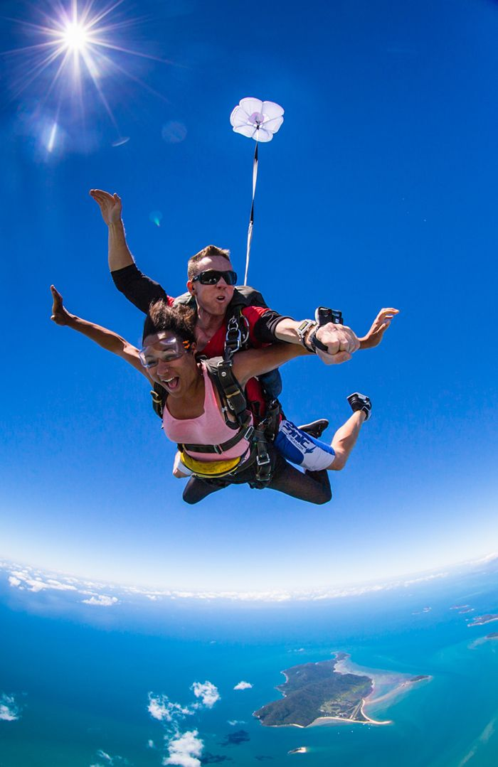 Grab your mates and get started on a tropical North Queensland adventure. First stop - skydive with us at Mission Beach. #SkydiveAustralia #bucketlist #summer #escape #holidays #travel #ideas #Australia