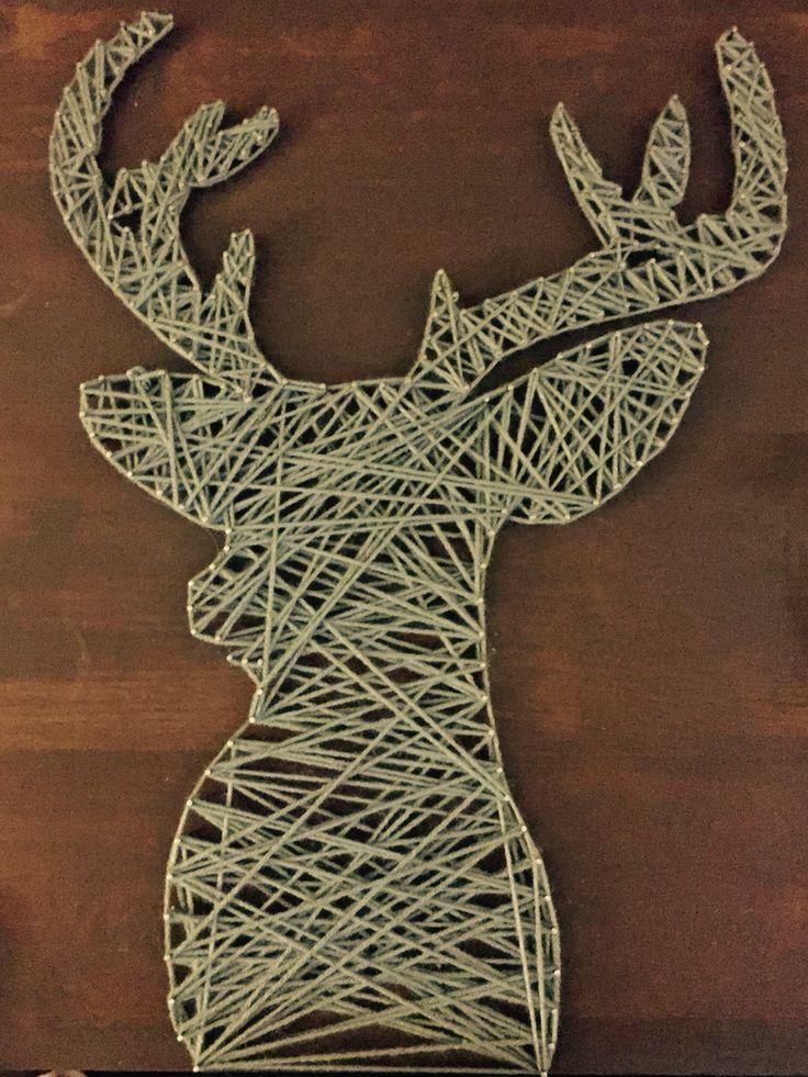 Deer string art piece :)