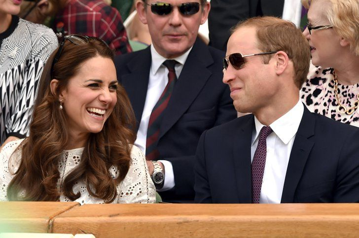 Pin for Later: 19 Times Will and Kate Showed Love During Sporting Events  They cracked each other up during a July 2014 Wimbledon tennis match.