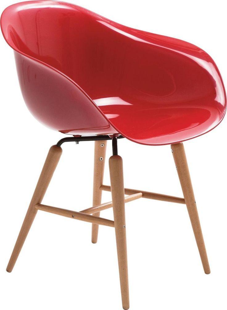 Stuhl mit Armlehne Forum Wood Red