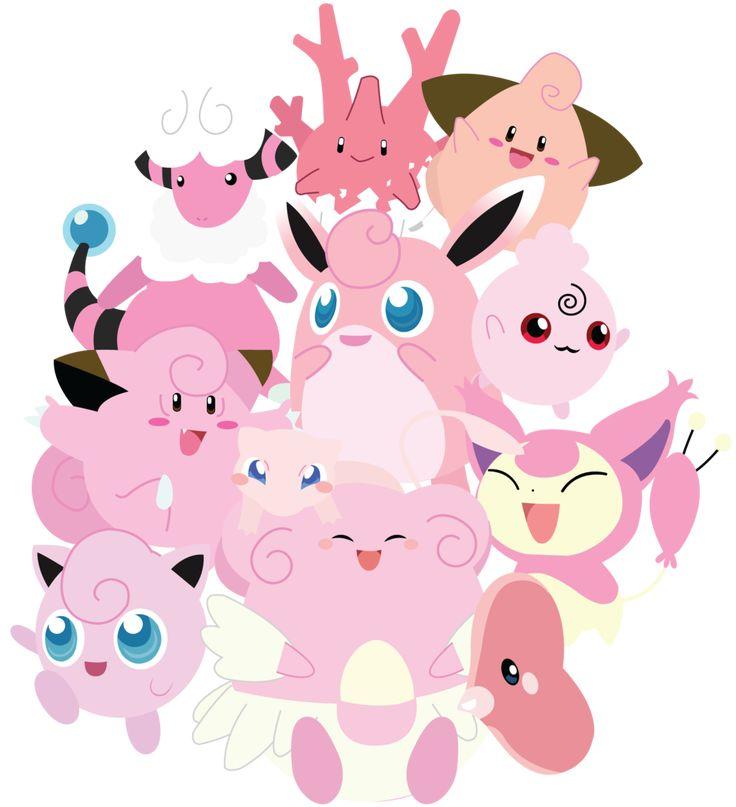 Pink Pokemon Unite! by *Berri-Blossom