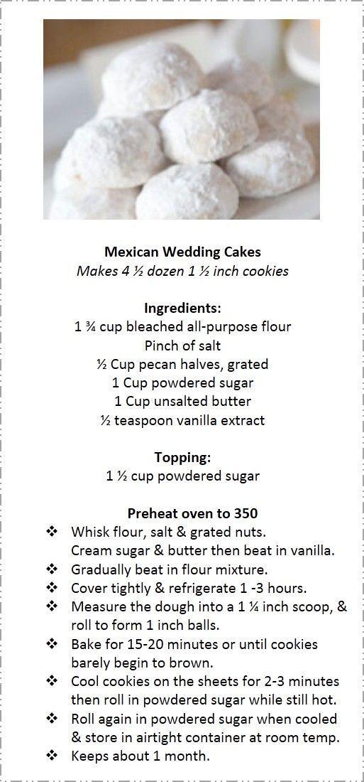 Mexican Wedding Cakes   DIY Cinco de Mayo Party Ideas Food Desserts   Easy Fiesta Party Ideas for Kids Mexican