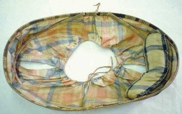 The underside of a hooped linen petticoat c1760, Westminster Abbey