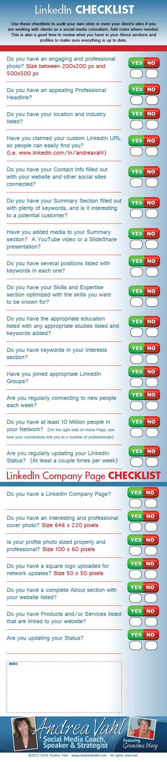 Tareas a realizar diariamente en Linkedin.