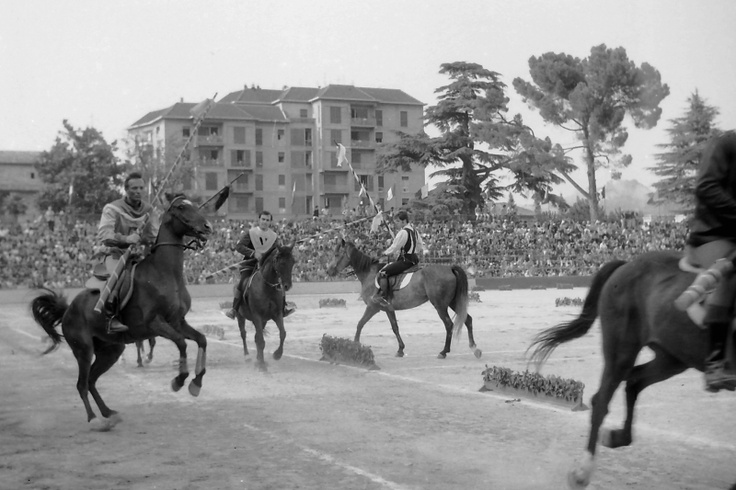 Ascoli Piceno most important event: La Quintana - this is a medieval horse competition among the six districts of the city: every year a great and amazing horse race - with complicated and interesting rules - takes place in Ascoli..This year the appointment is for next Sunday, August 5th..A great competition..Here an historical picture! For more information: http://ascoli-ontheroad.blogspot.it/search/label/LA%20QUINTANA%20DI%20ASCOLI%20PICENO