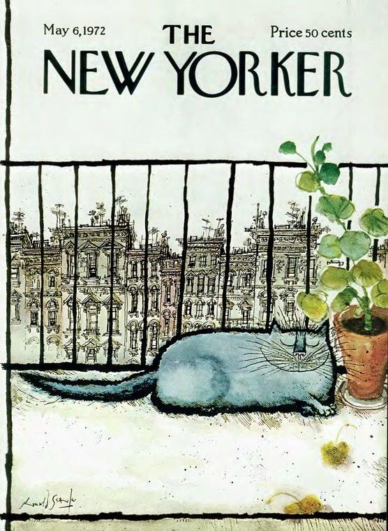 Ronald Searle, Cover illustration, The New Yorker Magazine, may 6, 1972