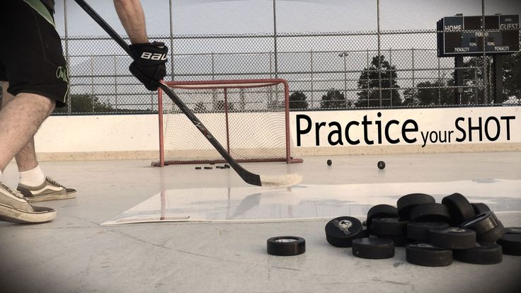 Practice your hockey one timers by yourself... with the Extreme Passing Kit
