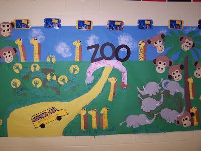 zoo bulletin board   We're goin' to the zoo, zoo, zoo...