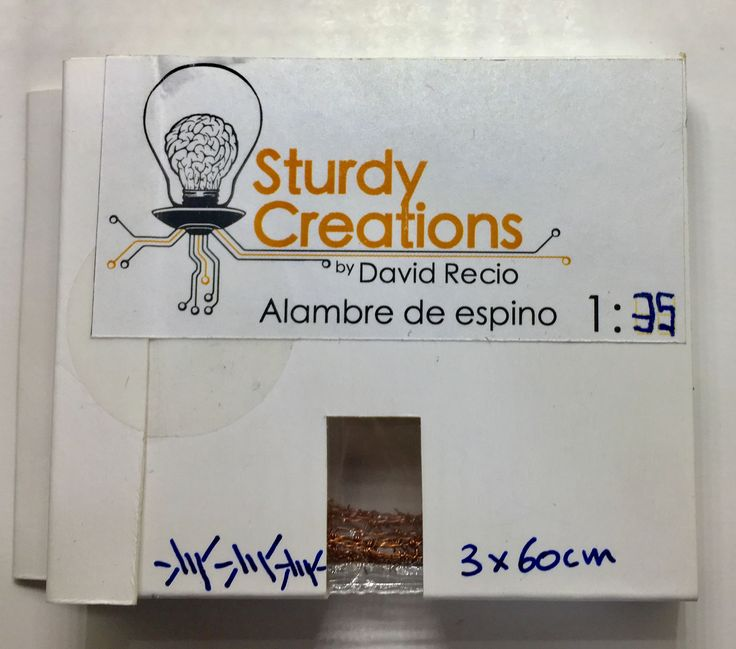 Alambre de púas realista a escala 1:35  Este producto está realizado a mano de forma artesanal.  david@davidreciogarcia.com