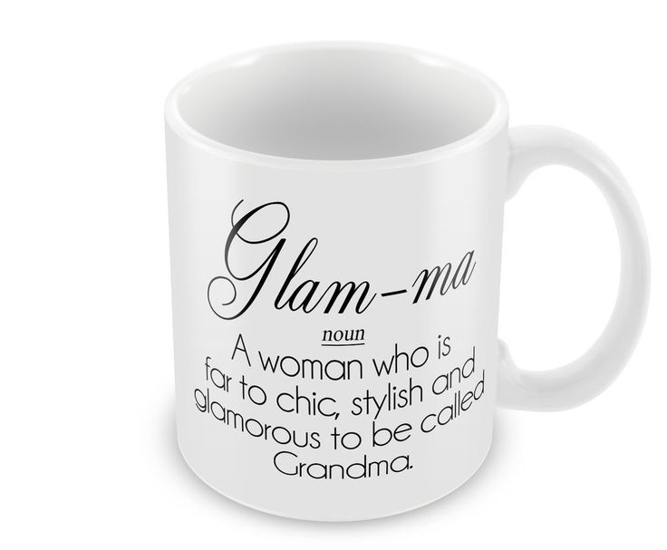 Glam-Ma Definition Mug Cup Mothers Day Cup Coffee Hot Drink Gift Present Grandma