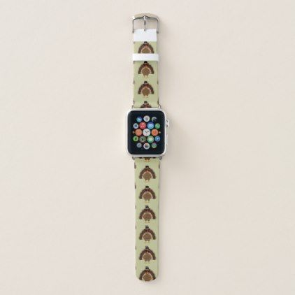 Cool Turkey with sunglasses Thanksgiving pattern Apple Watch Band - thanksgiving day family holiday decor design idea