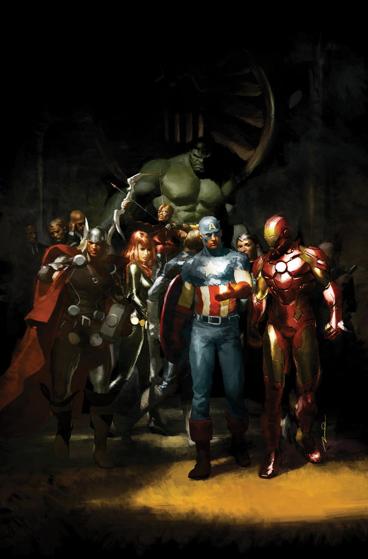 Avengers by Gerald Parel This is so spectacular I can't even control it!