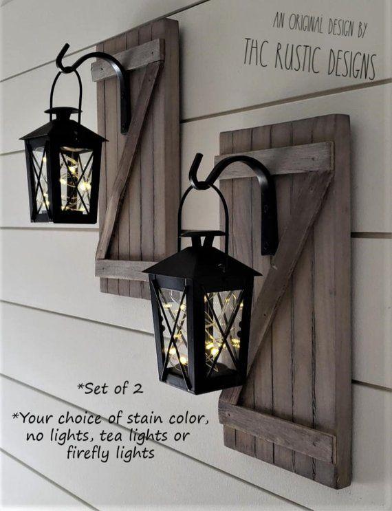 Rustic Wall Hanging Lanterns