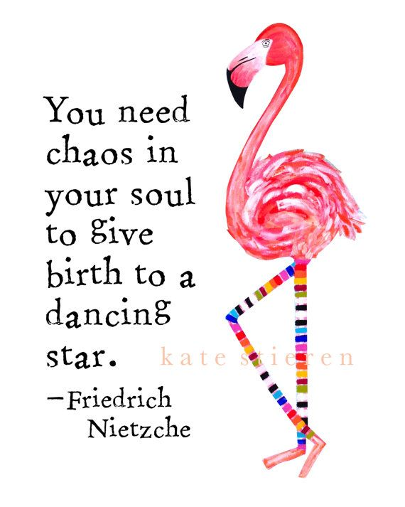 Flora the Flamingo Art Print - You Need Chaos in Your Soul ...