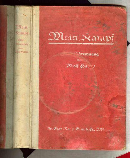 Super rare original 1925 First Edition copy of Adolf Hitlers Mein Kampf.