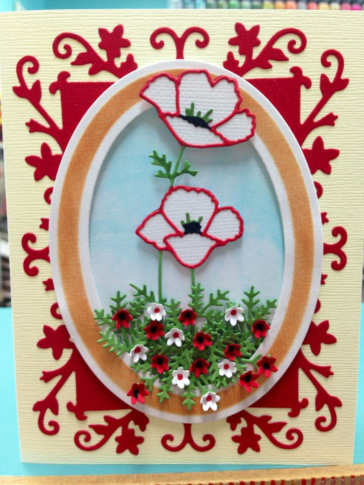 card using memory box darling poppies die impression obsession tiny flowers and fir sprig dies. Black Bedroom Furniture Sets. Home Design Ideas