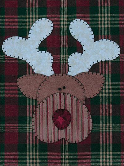 Reindeer Applique Patternlet