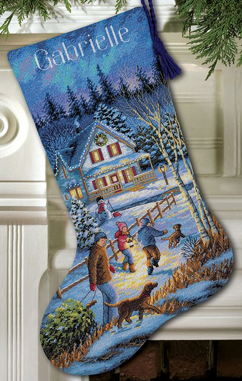 Dimensions Christmas Stocking Kits.Dimensions Christmas Eve Fun Stocking Counted Cross Stitch