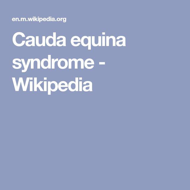 Cauda equina syndrome - Wikipedia