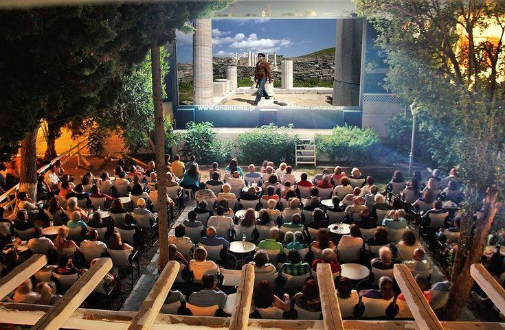 Open-air cinema in Mykonos
