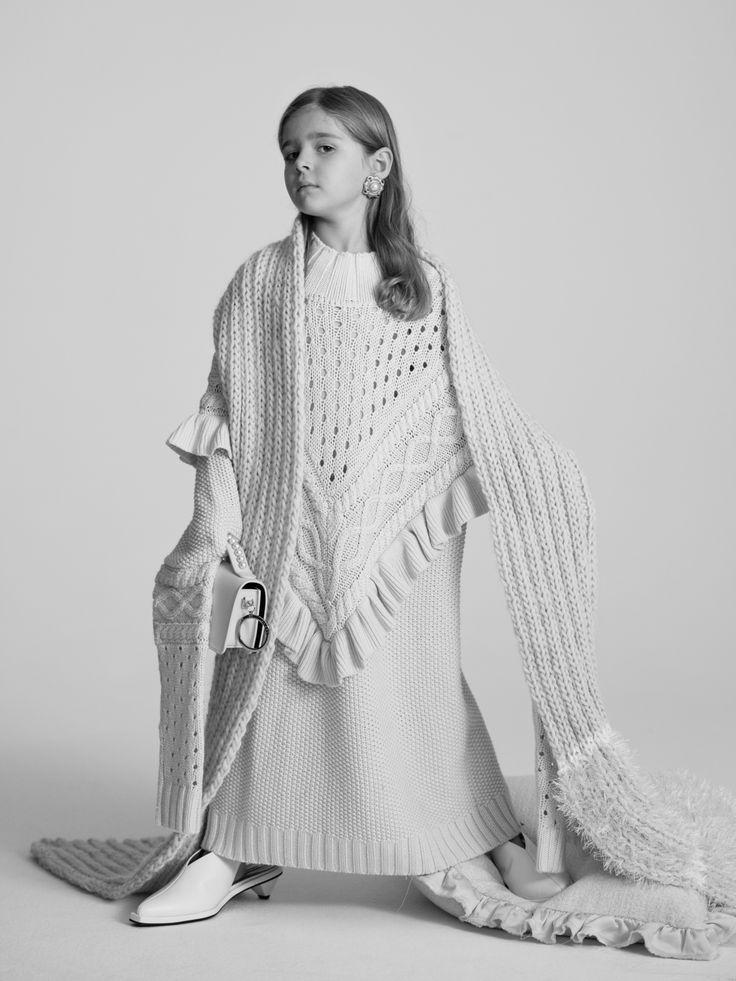 """""""All the best people have knits.  Big ones."""" Elsie, 5 Photographed by Toby Coulson #motherofpearl #pearlyqueens #ingajumper #knitwear"""