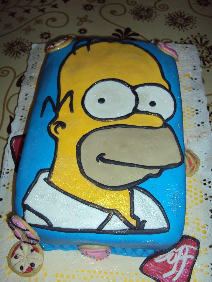 torta rectangular de homero simpons