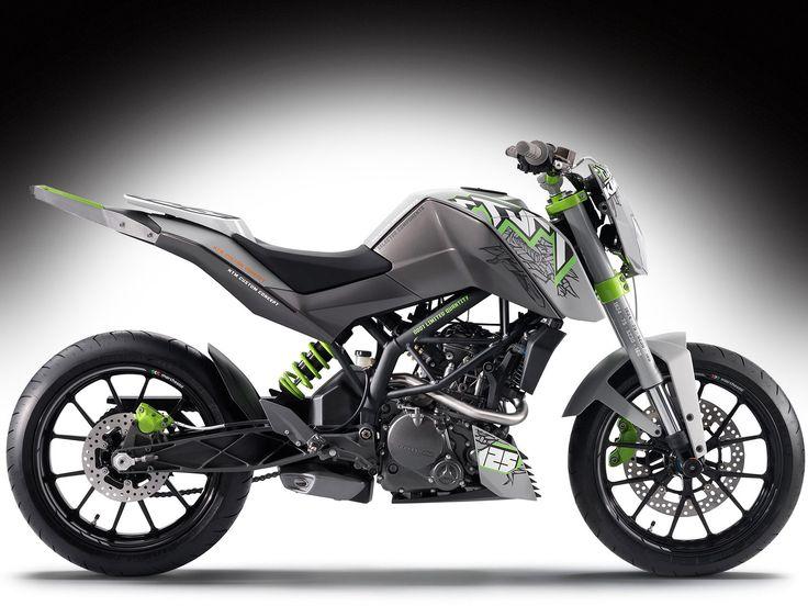 KTM 125 Stunt concept bike.  Love the color scheme.