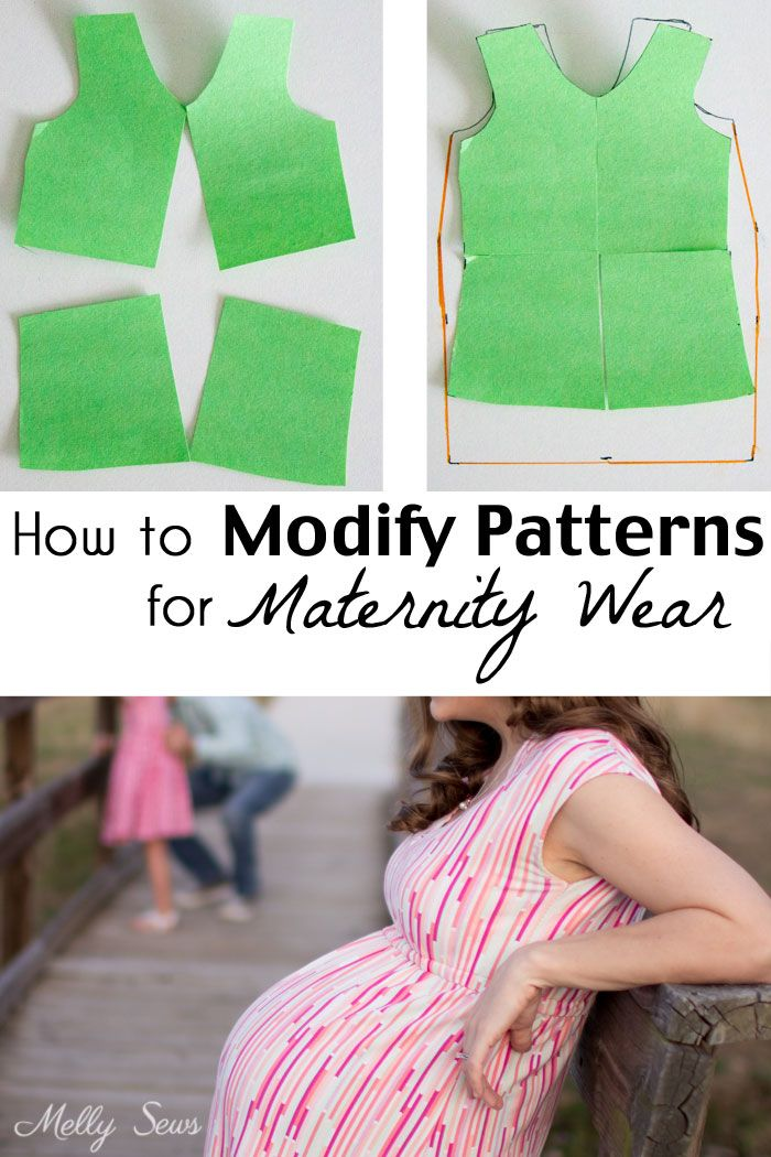 How to modify sewing patterns for maternity - maternity pattern alteration - Melly Sews