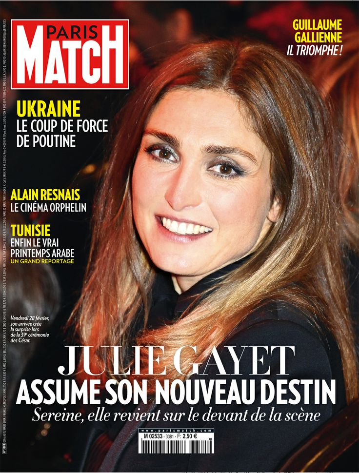 cette semaine dans paris match julie gayet sur le devant de la sc ne julie gayet pinterest. Black Bedroom Furniture Sets. Home Design Ideas