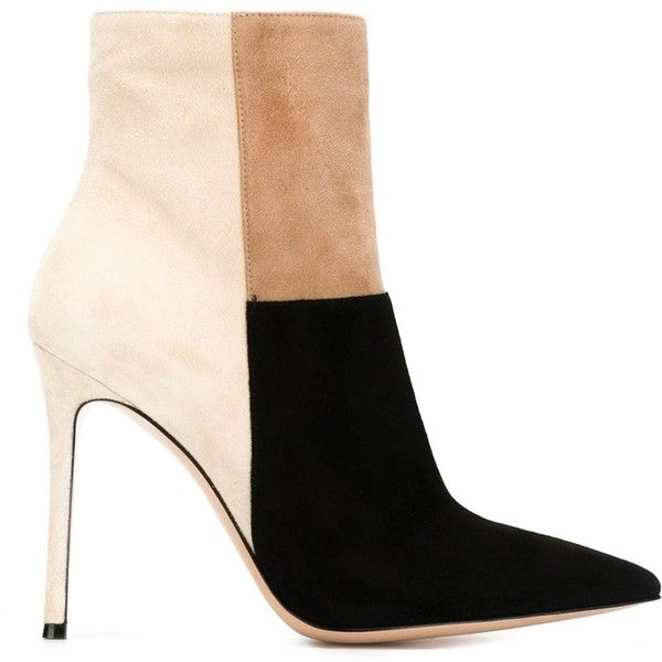 Gianvito Rossi Geneva Boots ($963) ❤ liked on Polyvore featuring shoes, boots, ankle booties, ankle boots, heels, footwear, leather ankle booties, heels stilettos, high heel ankle boots and short boots