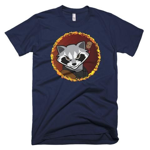 Rocket Raccoon with Baby Groot Shirt - White