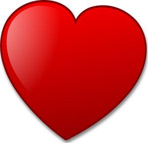 Vetor desenho de coração vermelho