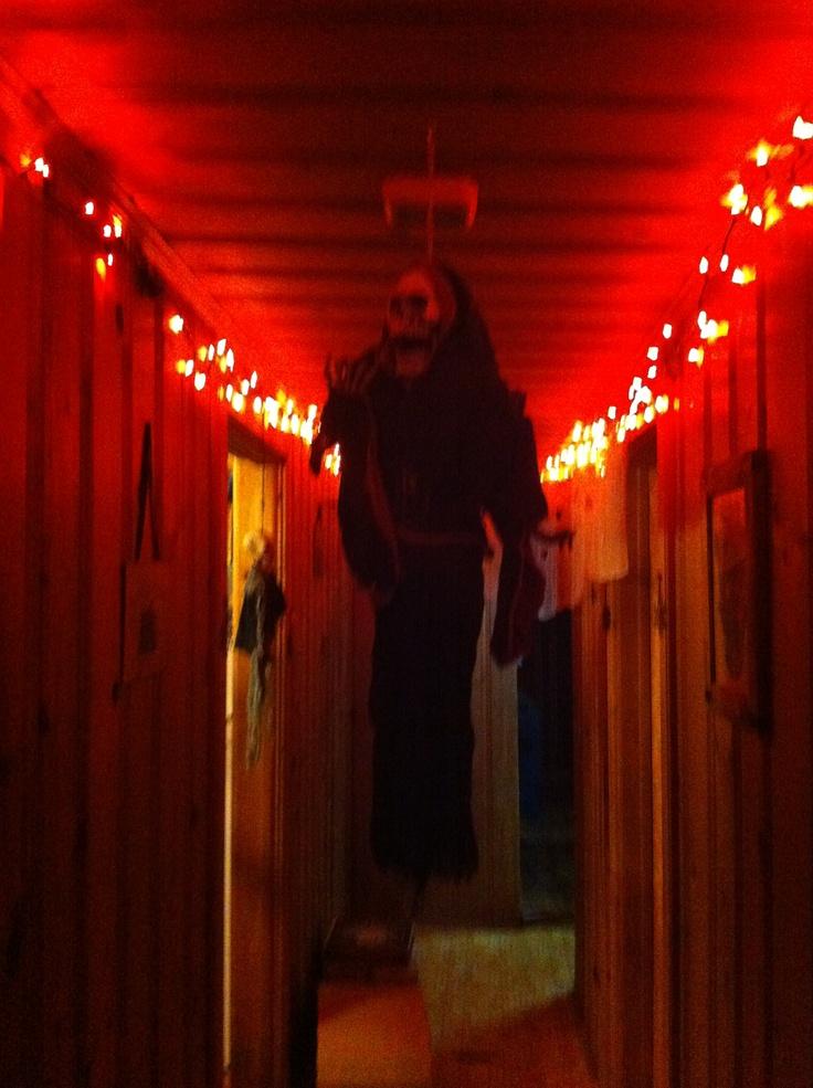 My halloween hallway haunted hill pinterest for Haunted house hallway ideas