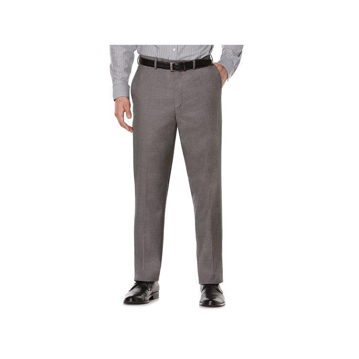 Savane Premium Flex Gab Stretch Dress Pants, Men's, Size: 40X32, Grey