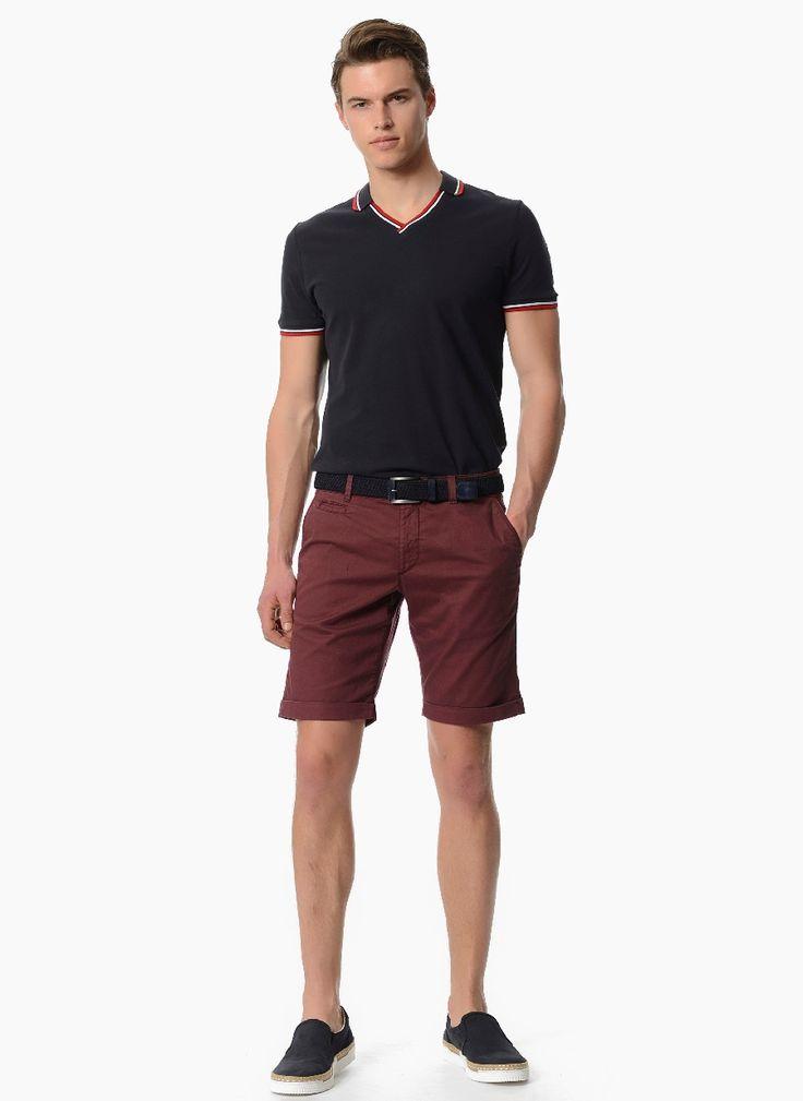 Купить Стильные мужские шорты бордового цвета в интернет магазине мужской одежды OTOKODESIGN