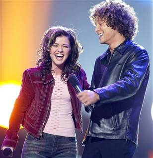 Season 1 (2002):   •Winner:  Kelly Clarkson   •Runner-up:  Justin Guarini