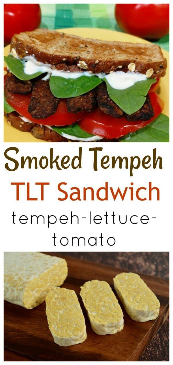 Smoked Tempeh TLT Sandwich Recipe Tempeh, Vegan