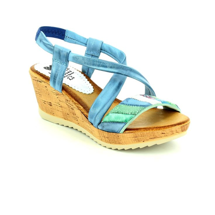 Get new summer sandals this season. These gorgeous blue multi coloured leather sandals are made in brazil. With their wedge heel they are a must have! Buy your wedge sandals online now from www.beggshoes.com