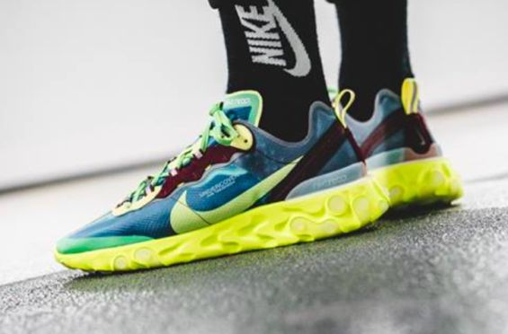 9b9dcdb5255 Get Ready For The UNDERCOVER x Nike React Element 87 Lakeside Electric  Yellow | Dr Wongs Emporium of Tings | Nike, Shoes, Sneakers