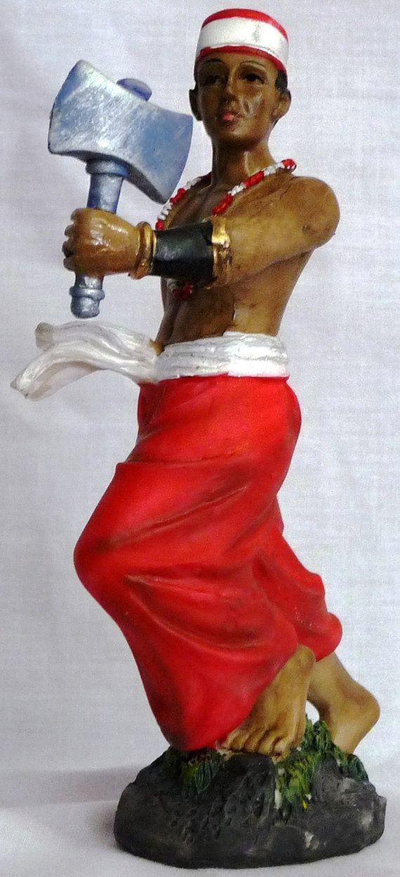 Orisha Chango Statue Orisha Statue Yoruba Religion ...