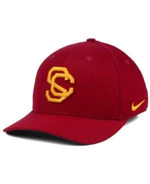 Nike Usc Trojans Vault Swoosh Flex Cap - Red L/XL