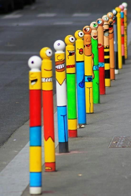 Rue René Goscinny, Paris street art by LeCyklop