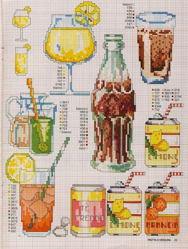 schema+punto+croce+-drink-+birra-+bibite-cocacola