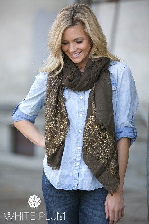 Behati Metallic Scarves! 3 Color Options!