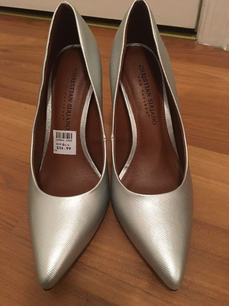 Christian Siriano For Payless Silver Pumps Woman's Pointed Heel Shoe Size 6.5    eBay