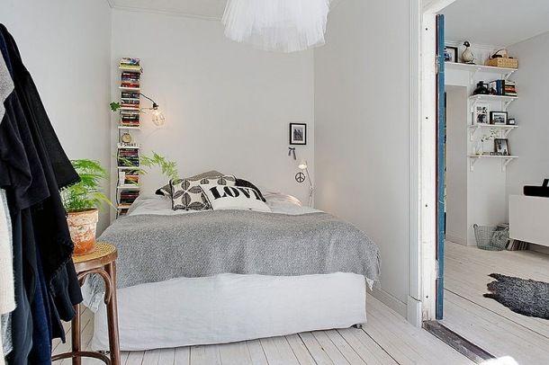 Zdjęcie: skandynawska sypialnia ze smakiem