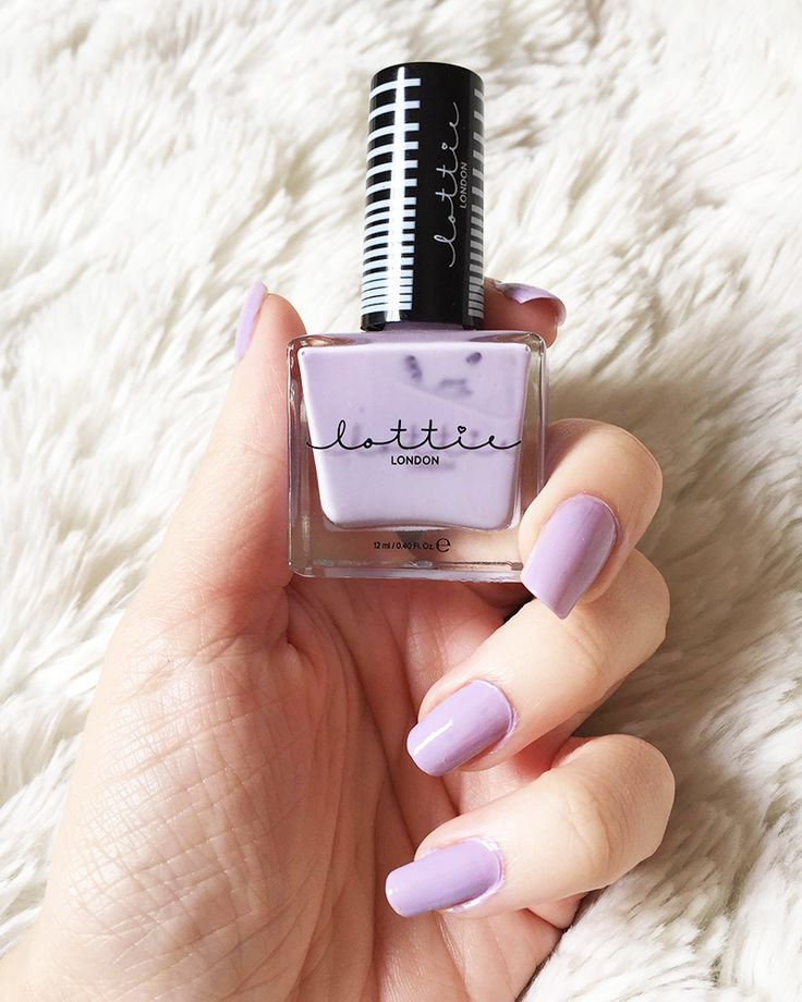 Lilac nails from Lottie London