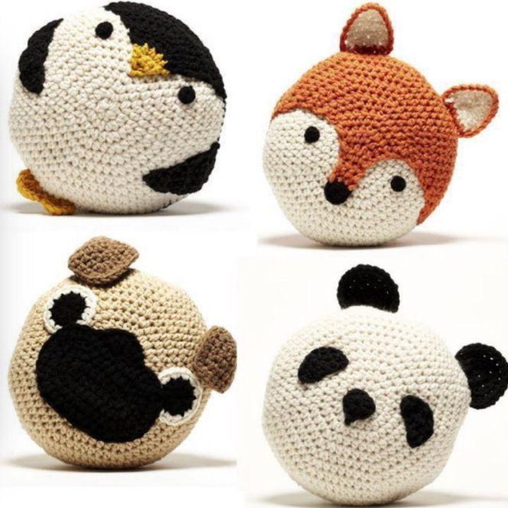 Le kit crochet Animal Buddy va vous permettre de réaliser un coussin rond en fo…