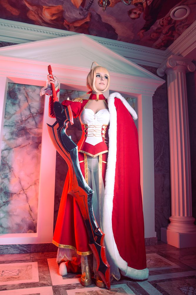 Anime Cosplay Porn Caption - Fate/Extra - Saber Nero by Disharmonica